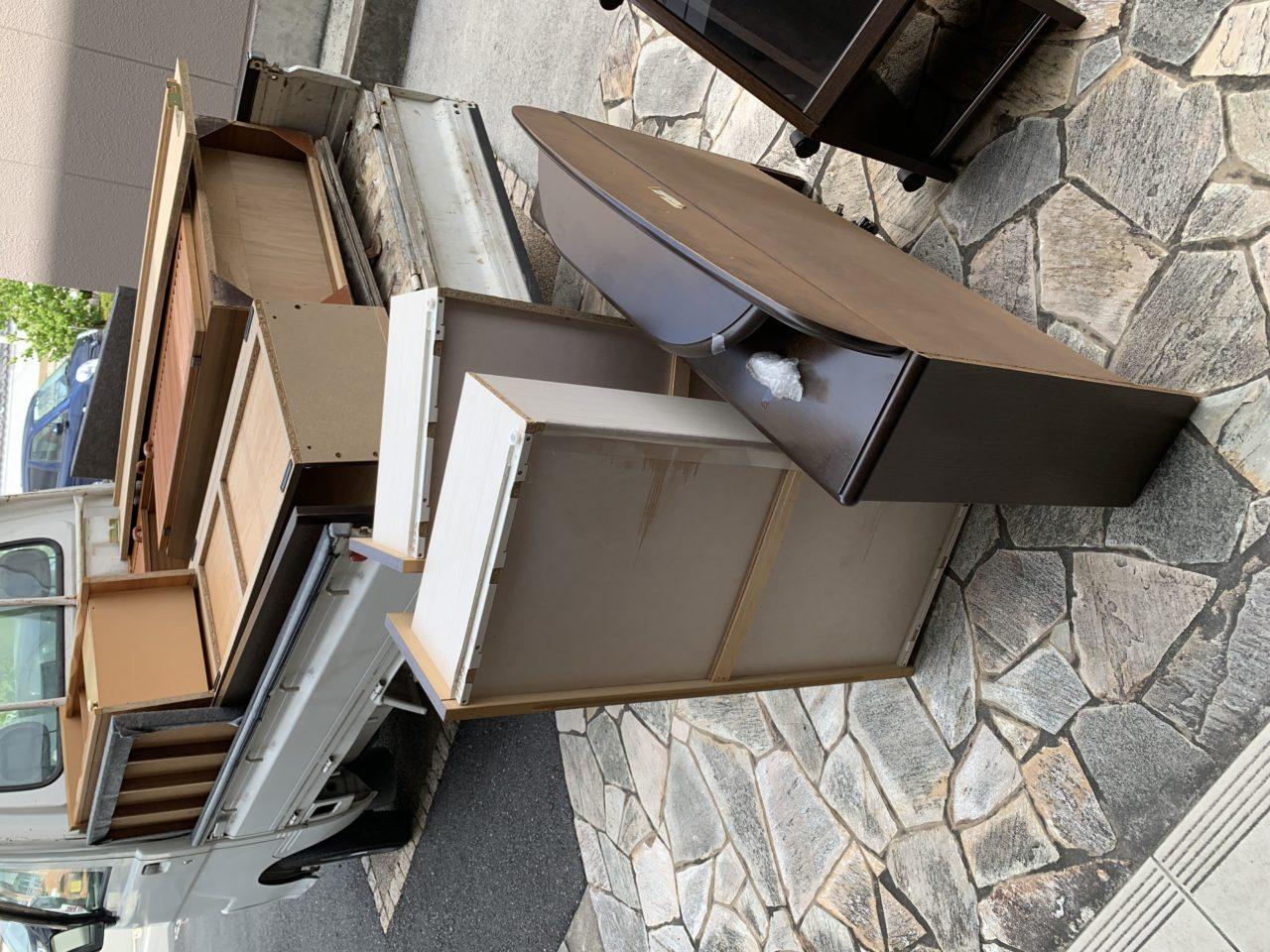 大阪府河内長野市にて引っ越しのお手伝い・不用品回収のお手伝いをしてまいりました