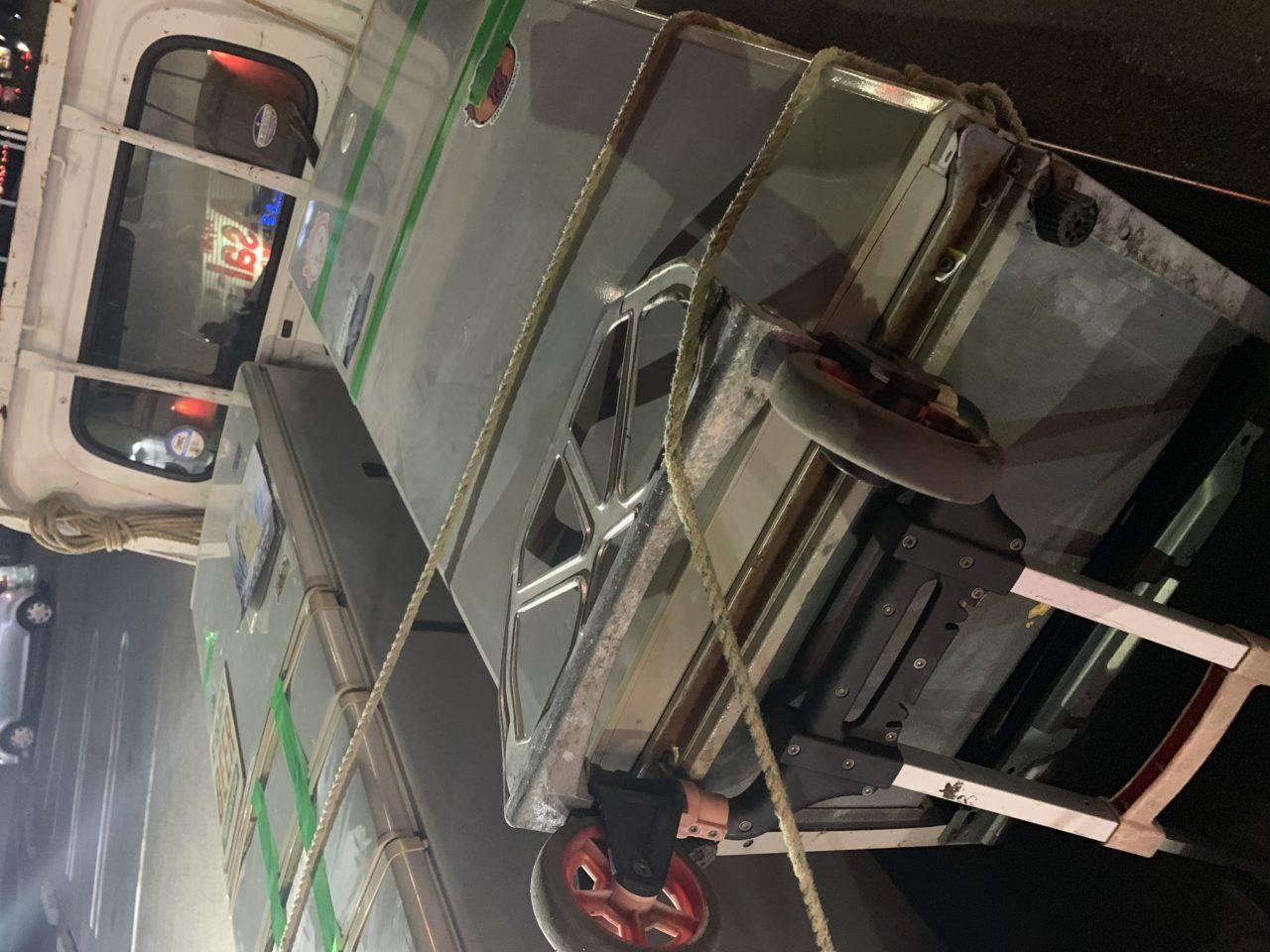 大阪府泉南市より家電4品目、リサイクル家電の運搬及び撤去のお手伝いをしてまいりました
